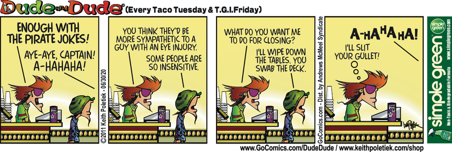 Dude and Dude Comic Strip for June 30, 2020