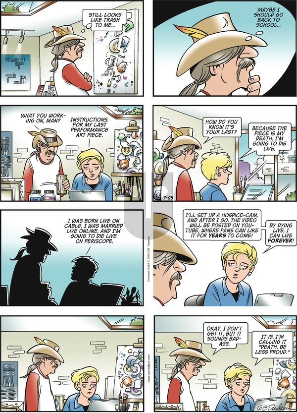 Doonesbury on Sunday July 5, 2015 Comic Strip