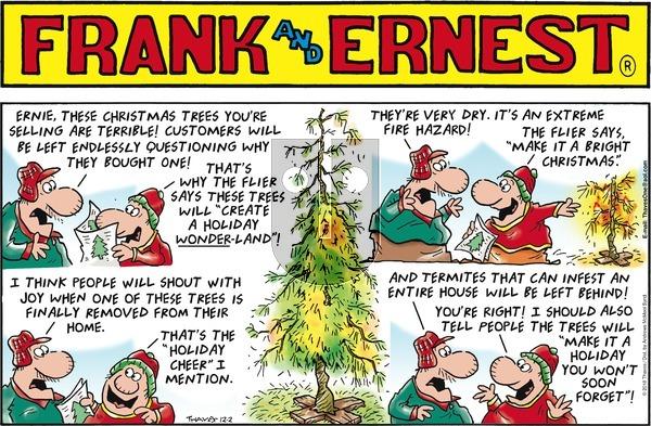Frank and Ernest on Sunday December 2, 2018 Comic Strip