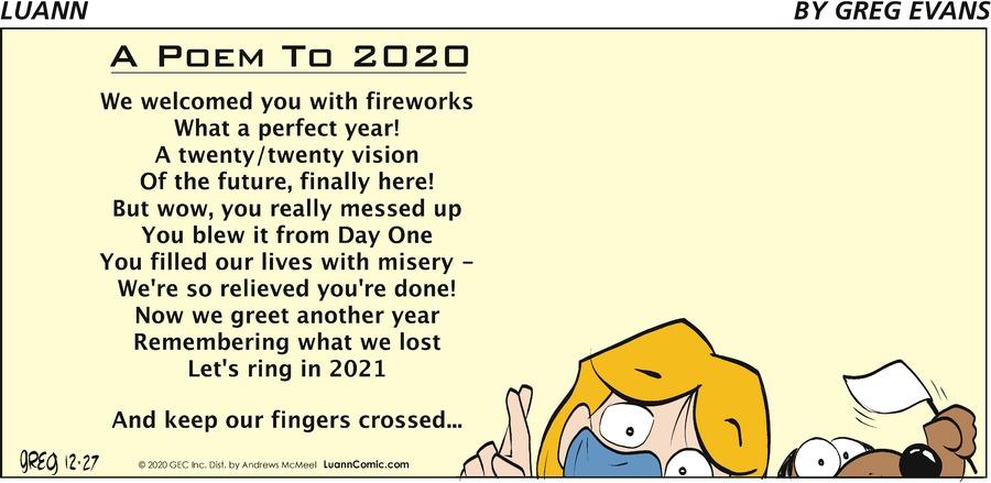 Luann Comic Strip for December 27, 2020