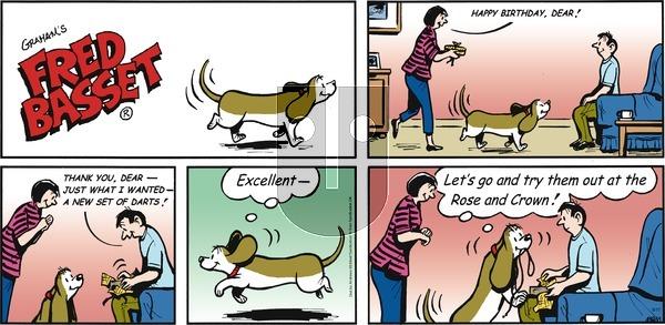 Fred Basset on Sunday September 17, 2017 Comic Strip