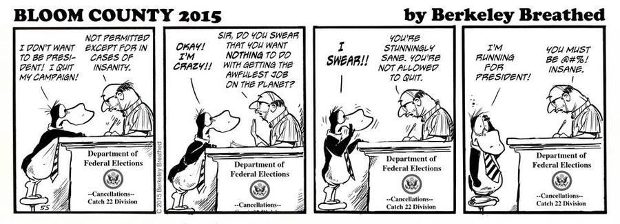 Bloom County 2019 Comic Strip for September 29, 2015