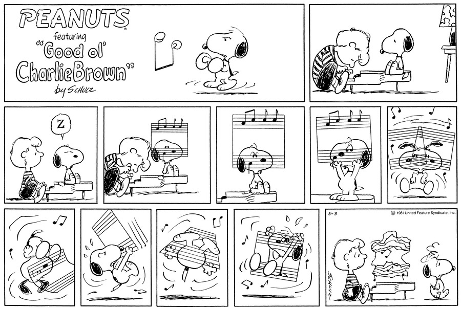 Peanuts Comic Strip for May 03, 1981