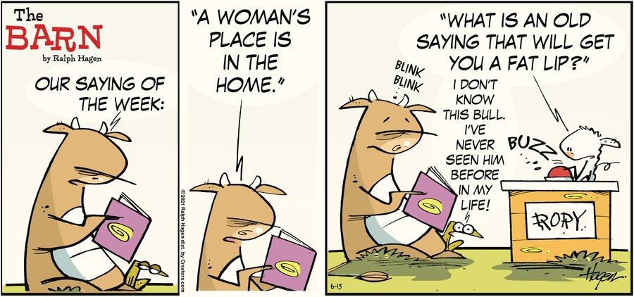 The Barn Comic Strip for June 13, 2021