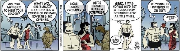 Alley Oop - Monday September 23, 2019 Comic Strip