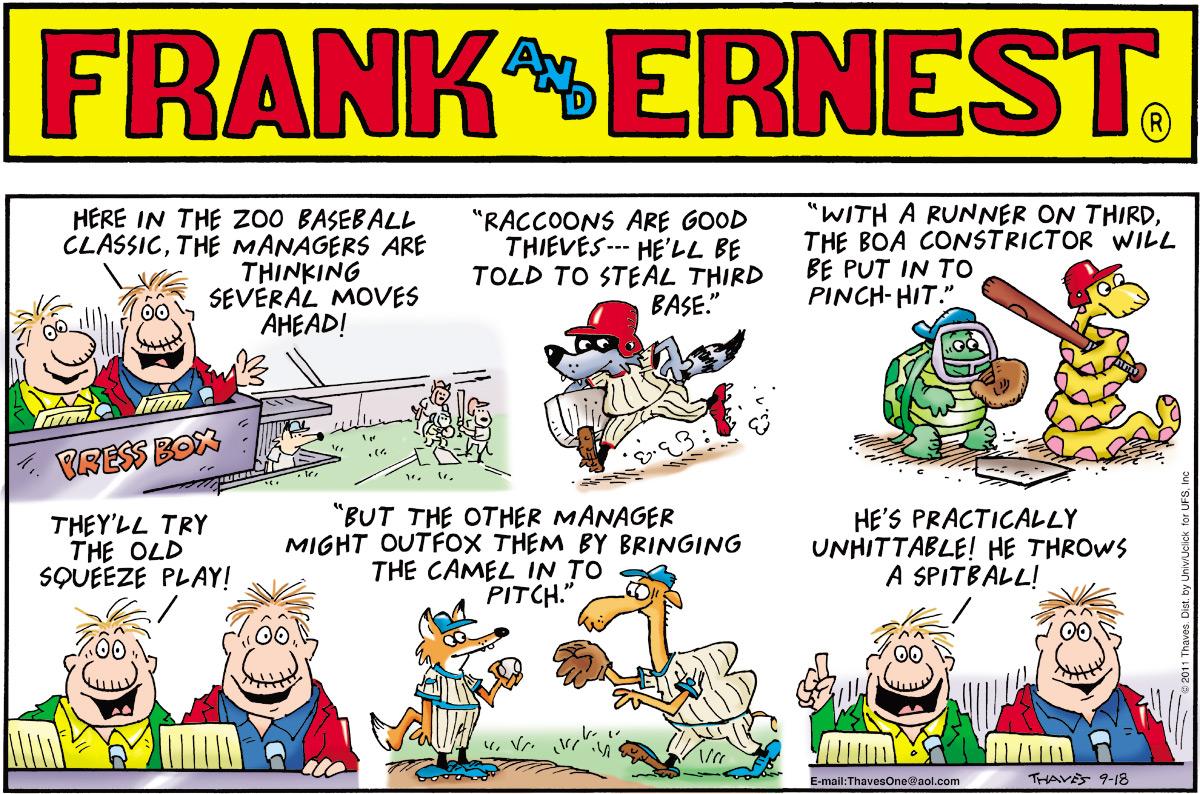 Frank and Ernest Comic Strip for September 18, 2011