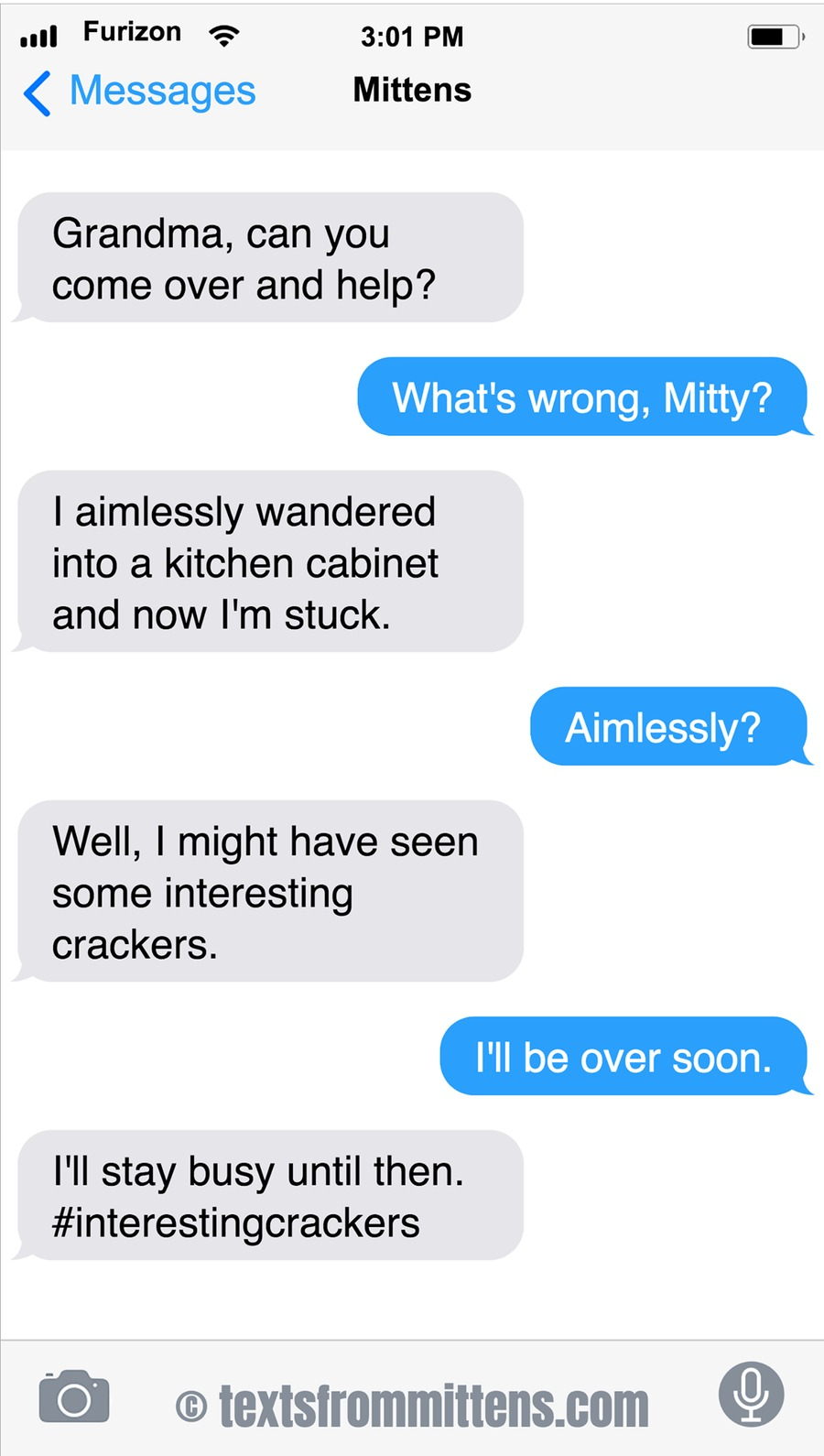 Texts From Mittens by Angie Bailey for May 26, 2019