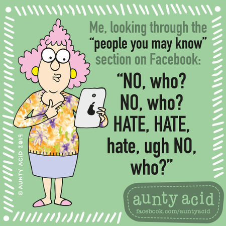 Aunty Acid by Ged Backland for September 06, 2019