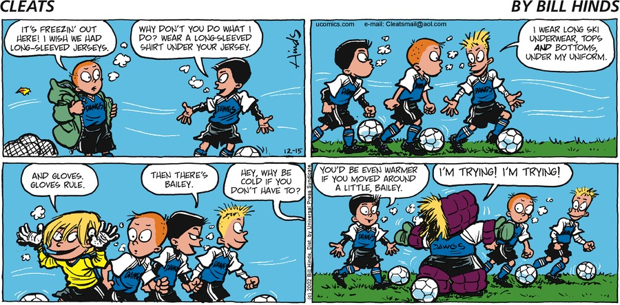 Cleats Comic Strip for December 15, 2002