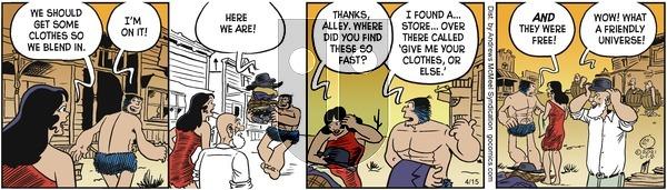 Alley Oop - Thursday April 15, 2021 Comic Strip