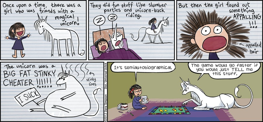 Phoebe and Her Unicorn Comic Strip for May 06, 2012