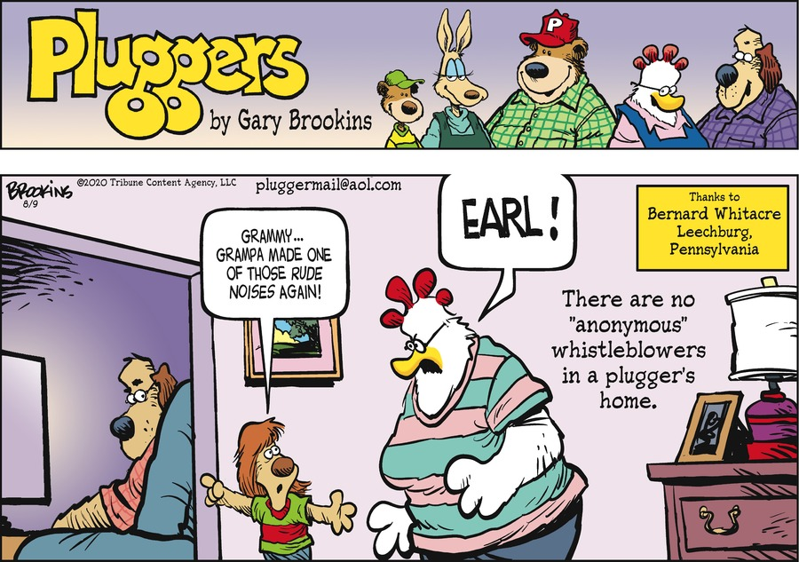 Pluggers Comic Strip for August 09, 2020