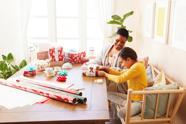 While gifts may get a wrapping workout during the holidays, that doesn't mean the treasure trimmings aren't used year-round. Getting children involved in decorating packages makes gift-giving even more special.