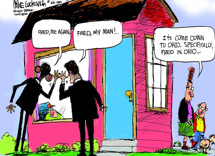 Mike Luckovich for Oct 23, 2012 Comic Strip