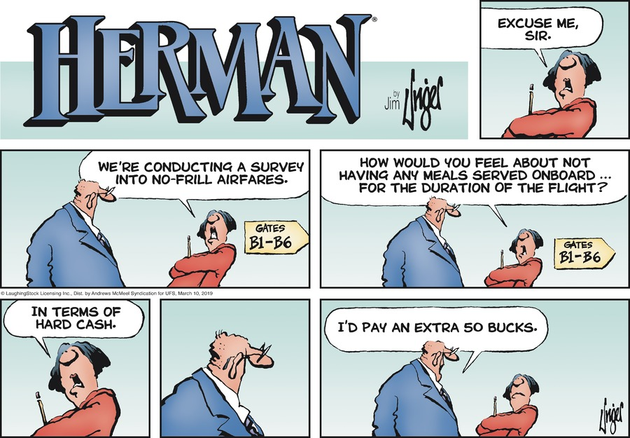 Herman by Jim Unger for March 10, 2019