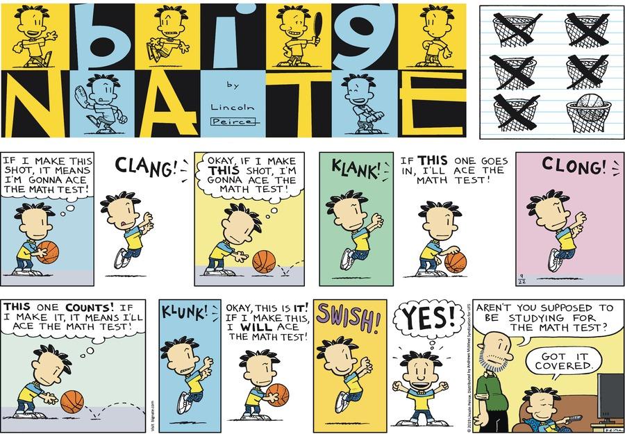 Big Nate Comic Strip for September 22, 2019