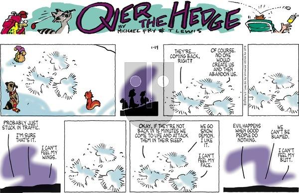 Over the Hedge on Sunday January 24, 2016 Comic Strip