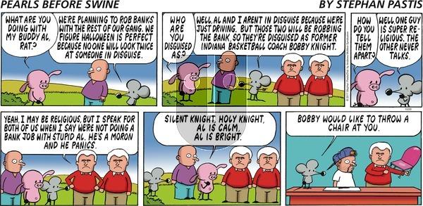 Pearls Before Swine on Sunday October 29, 2017 Comic Strip
