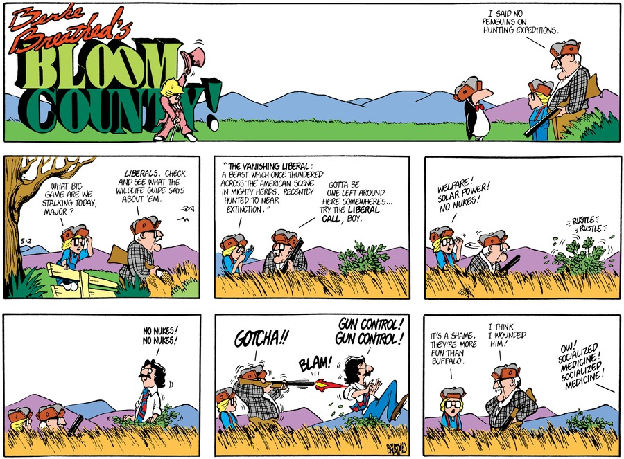 Bloom County Comic Strip for May 02, 1982