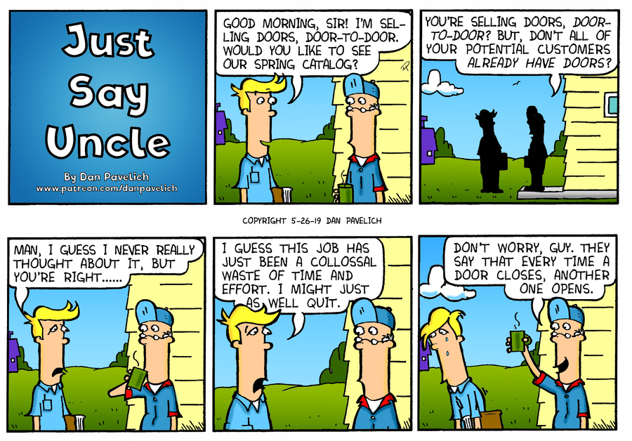 Just Say Uncle Comic Strip for May 26, 2019