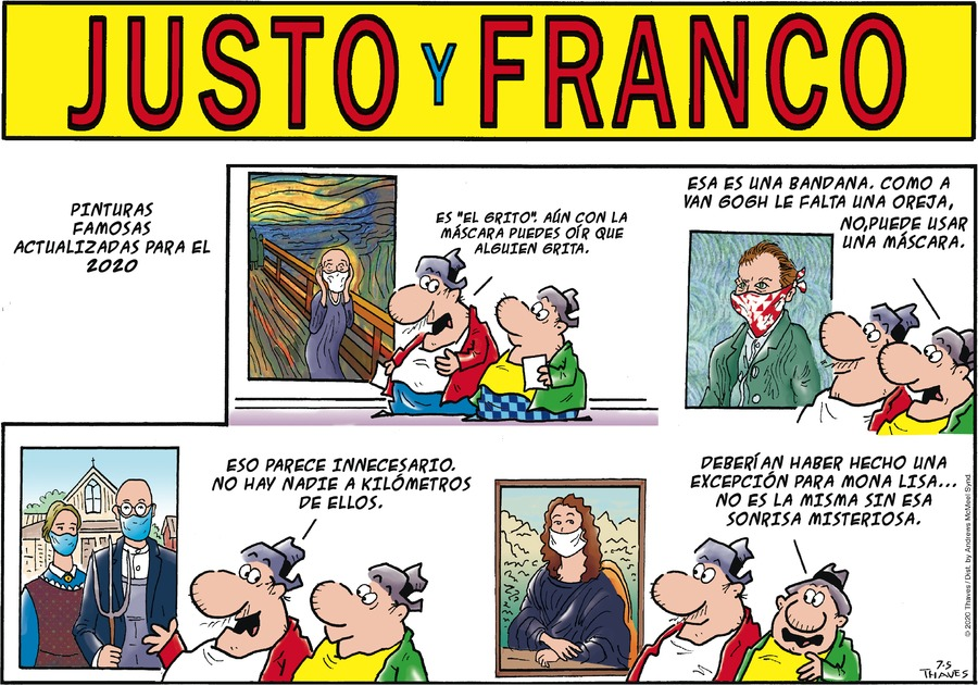 Justo y Franco Comic Strip for July 05, 2020
