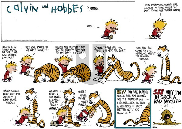 Calvin and Hobbes - Sunday March 29, 2020 Comic Strip