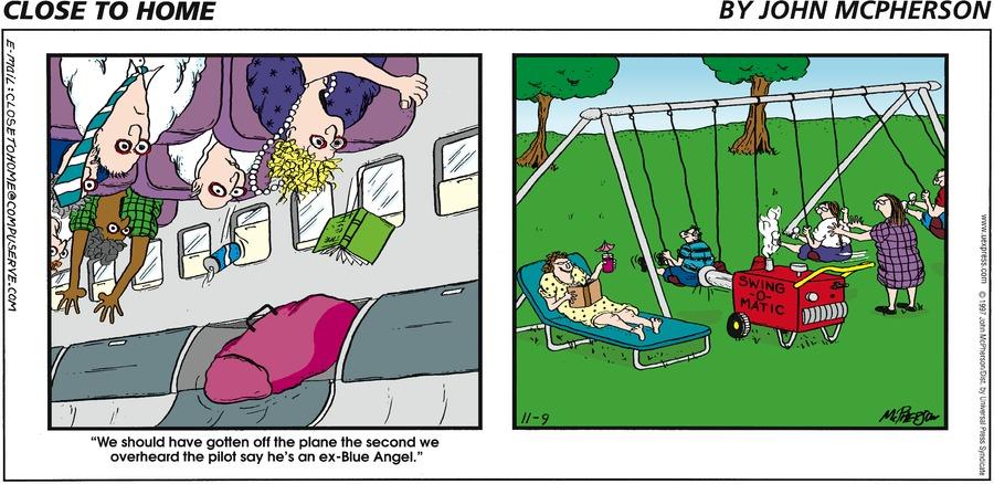 Close to Home for Nov 9, 1997 Comic Strip