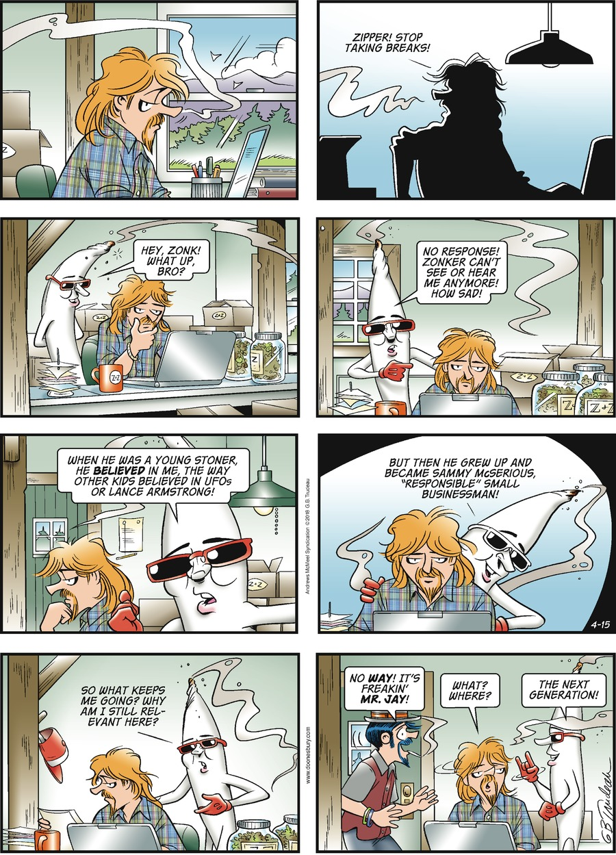 Doonesbury Comic Strip for April 15, 2018