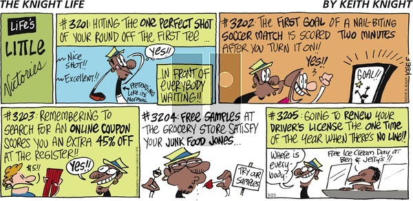 The Knight Life on Sunday March 23, 2014 Comic Strip