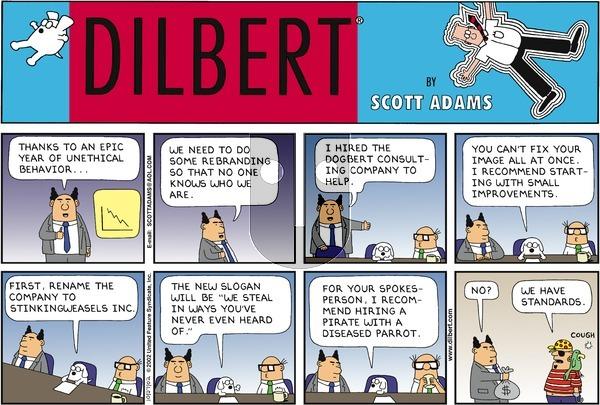 Dilbert - Sunday October 27, 2002 Comic Strip