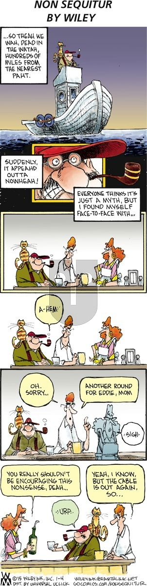 Non Sequitur on Sunday January 4, 2015 Comic Strip