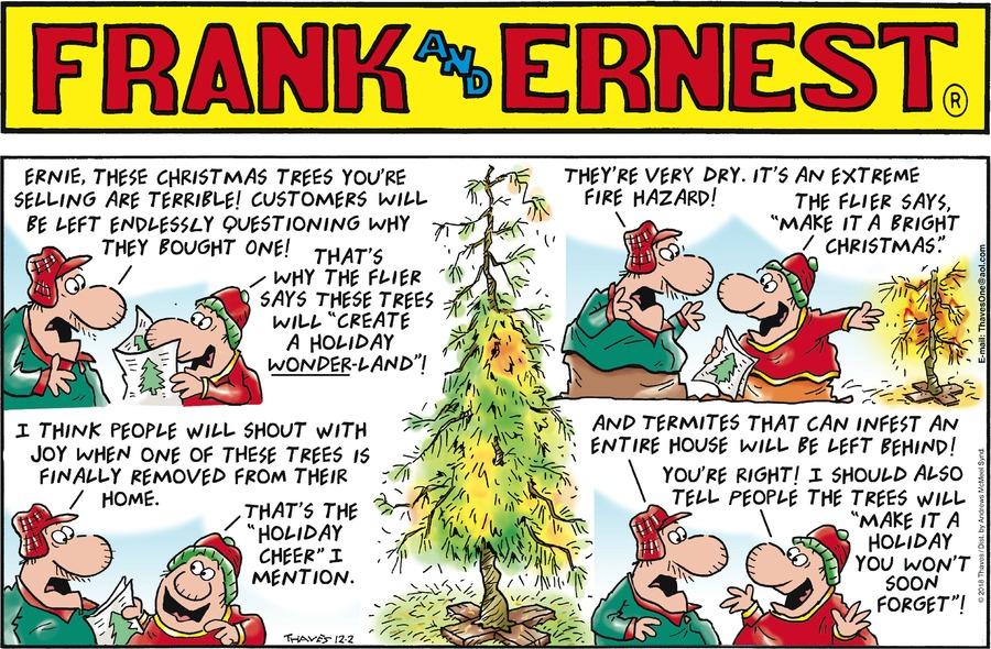 Frank and Ernest Comic Strip for December 02, 2018