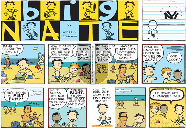 Big Nate on Sunday August 7, 2011 Comic Strip