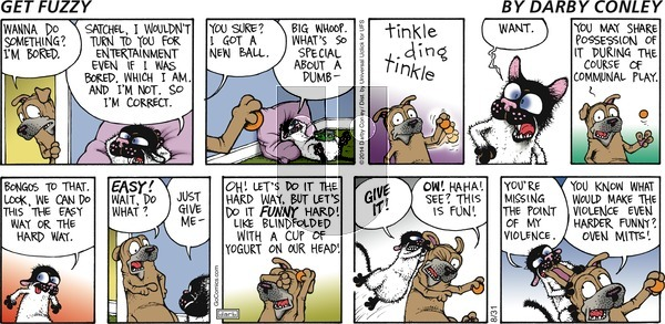 Get Fuzzy on Sunday August 31, 2014 Comic Strip