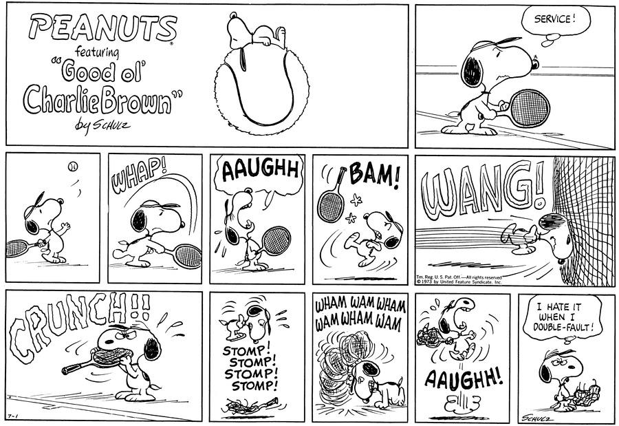 Peanuts Comic Strip for July 01, 1973