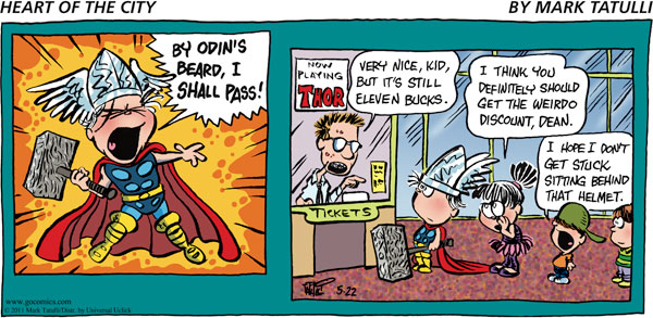 Heart of the City for May 22, 2011 Comic Strip
