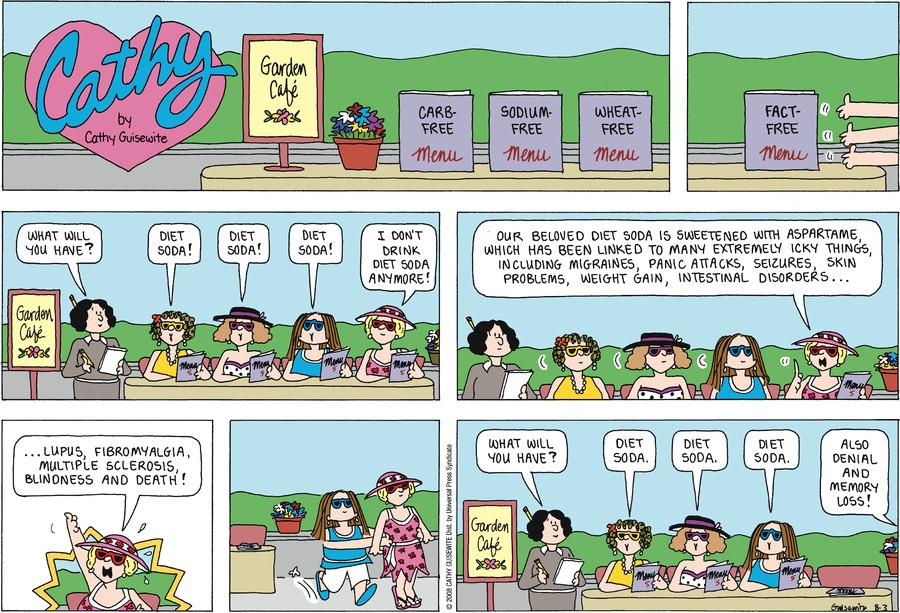 Cathy Comic Strip for August 03, 2008