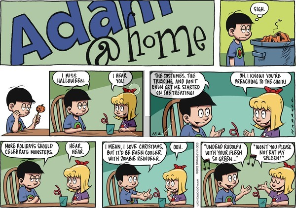 Adam@Home on Sunday November 2, 2014 Comic Strip