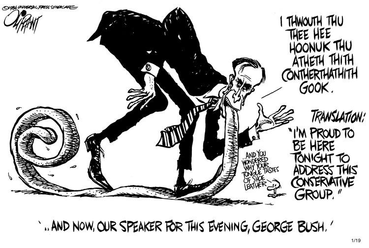 Pat Oliphant Comic Strip for January 19, 1986