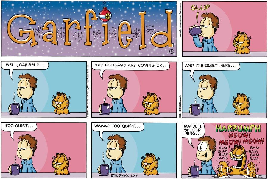 Garfield Comic Strip for December 03, 2000