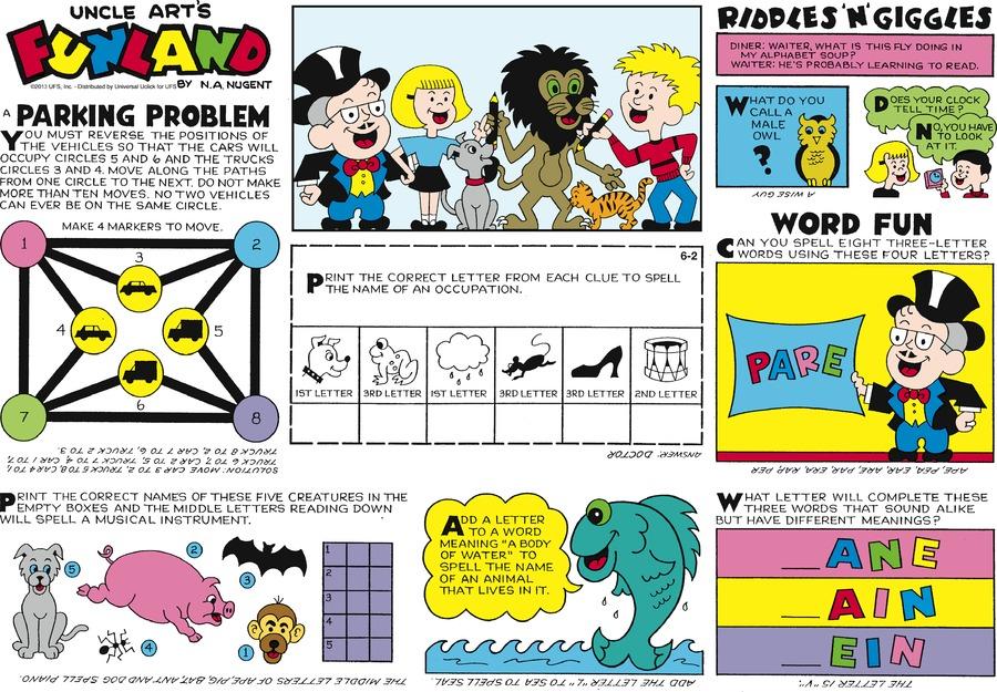 Uncle Art's Funland for Jun 2, 2013 Comic Strip