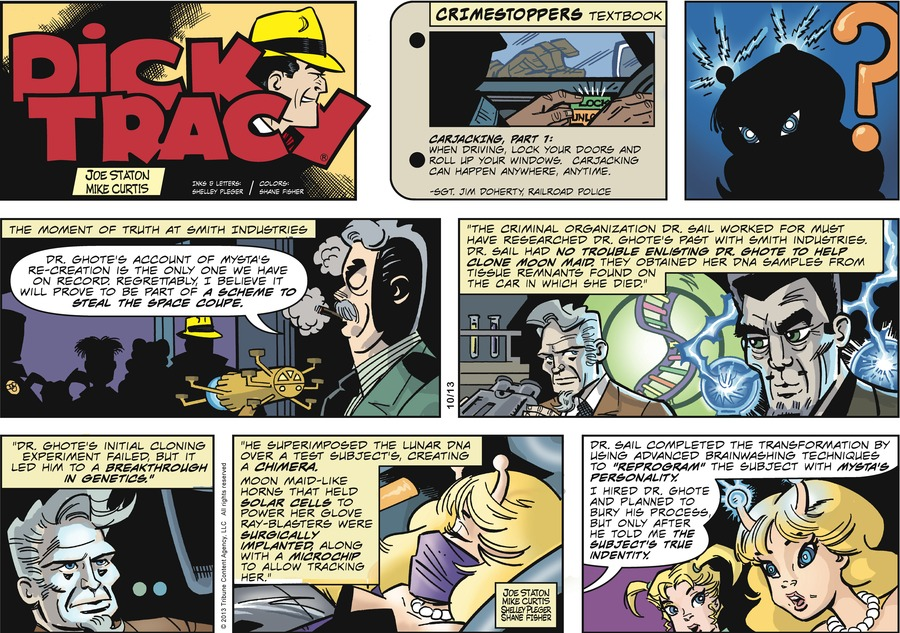 Dick Tracy Comic Strip for October 13, 2013