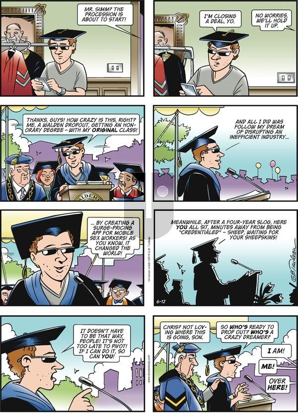 Doonesbury on Sunday June 12, 2016 Comic Strip
