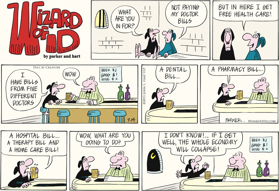 Wizard of Id for Jul 14, 2013 Comic Strip