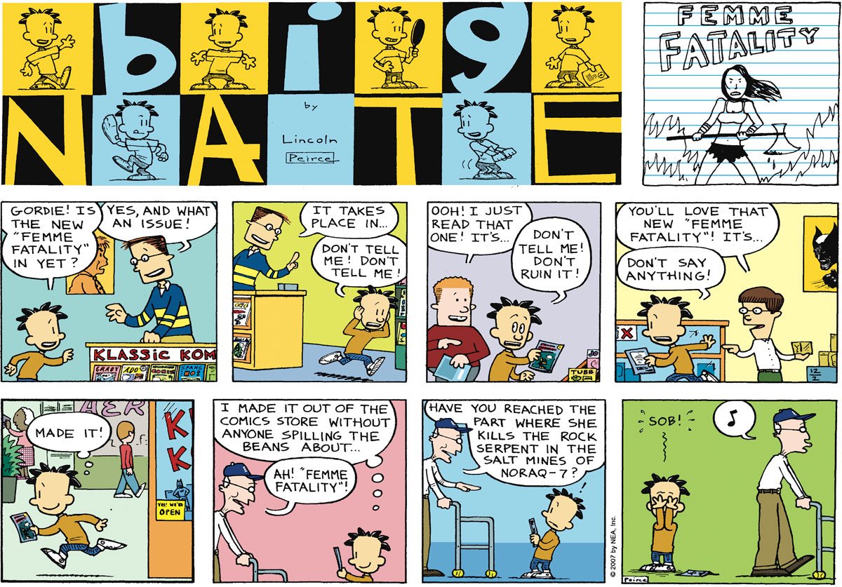 Big Nate Comic Strip for December 02, 2007