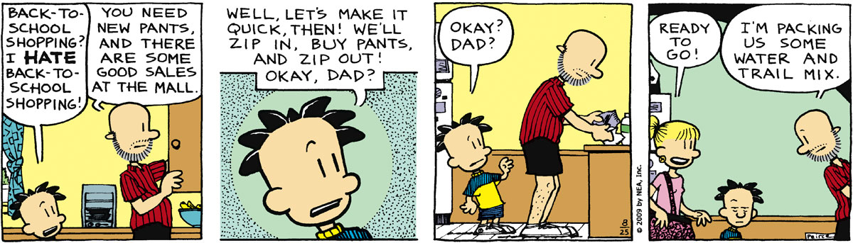 Big Nate Comic Strip for August 25, 2009