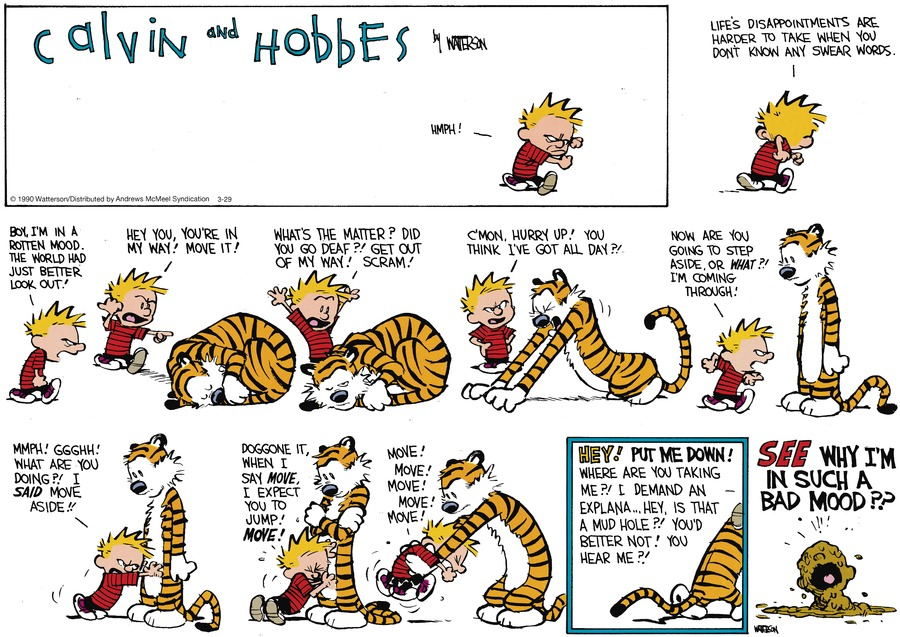 Calvin and Hobbes Comic Strip for March 29, 2020