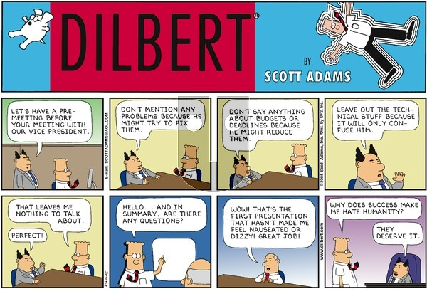 Dilbert on Sunday February 20, 2005 Comic Strip