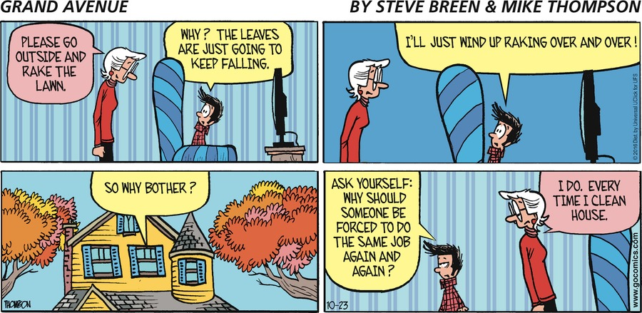 Grand Avenue Comic Strip for October 23, 2016