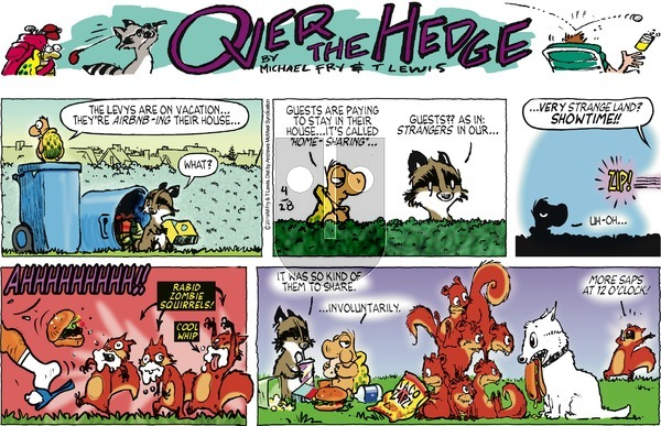 Over the Hedge on Sunday April 28, 2019 Comic Strip